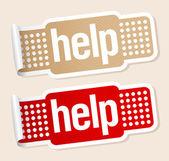 Help stickers. — Stock Vector