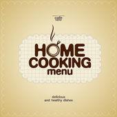 Home Cooking Menu Design template. — Stock Vector