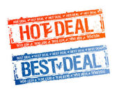 Best hot deal stamps. — Stock Vector