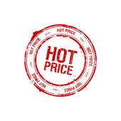 Sello precio caliente — Vector de stock