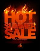 燃えるような暑い夏セール デザイン. — ストックベクタ