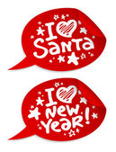 New year stickers. — Stock Vector