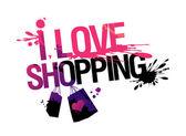 I love shopping illustration. — Stock Vector