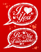 Valentine day stamps. — Vetorial Stock