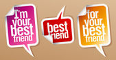 Best friend stickers. — Stock Vector
