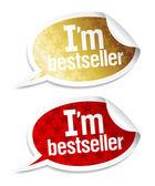 Ik ben bestseller stickers. — Stockvector