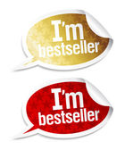 Jag är bästsäljare klistermärken. — Stockvektor