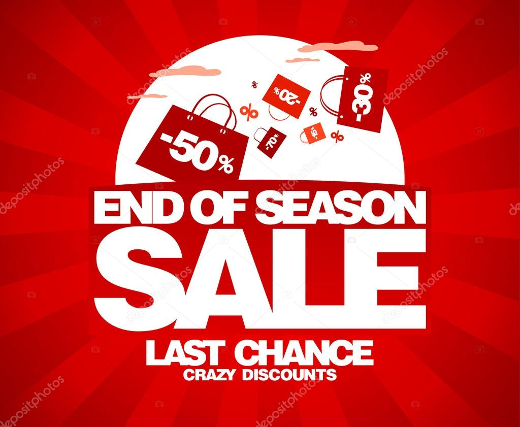 End of season sale design template with shopping bags. — Stock Vector #14210768