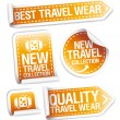 New travel wear collection stickers. - 