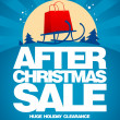 After christmas sale design template. — Stock Vector