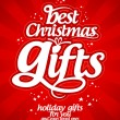 Christmas gifts design template. - Vektorgrafik
