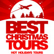 Stock Vector: Best Christmas tours design template.
