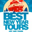 Best New Year tour design template. - Stok Vektör