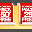 Economy pack labels. - Vektorgrafik