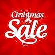 Christmas sale design template. - Stok Vektör