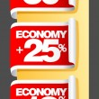 Economy labels. - 