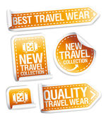 New travel wear collection stickers. — Stock Vector