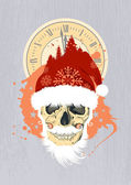 New Year design with Santa — Stock vektor