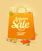 Autumn sale design template. — Stock Vector