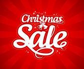 Kerstmis verkoop ontwerpsjabloon. — Stockvector