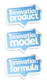 Innovation products speech bubbles. — Stock Vector