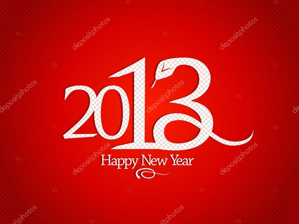 2013 year design template with snake. — Stock Vector #14833137