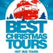 Royalty-Free Stock Vector Image: Best Christmas tours design template.