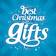 Christmas gifts design template. - 