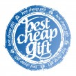 Best cheap gift stamp. - Stockvectorbeeld