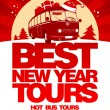 Stok Vektör: Best New Year tour design template.