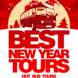 Stock Vector: Best New Year tour design template.