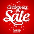 Christmas sale design template. - Vektorgrafik
