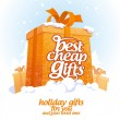 Best cheap gifts design template. — Stockvektor