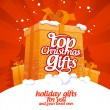 Top Christmas gifts. - Grafika wektorowa