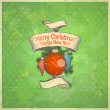 Retro Christmas card. - 