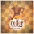 Retro coffee menu card design. - Imagen vectorial