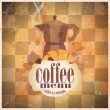 Retro coffee menu card design. - Stock Vector