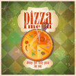 Retro pizza menu card design. — Stock Vector