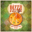 Stock Vector: Retro pizzmenu card design.
