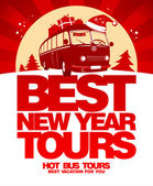 Best New Year tour design template. — Vettoriale Stock