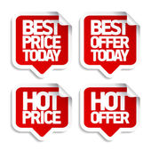 Best hot offers speech bubbles. — Vector de stock