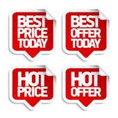 Nejlepší horké nabídky bubliny. — Stock vektor