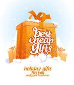 Best cheap gifts design template. — Stock Vector