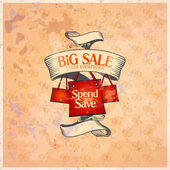 Big sale retro design template. — Stock Vector