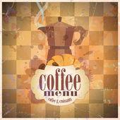 Retro koffie menu kaart ontwerp. — Stockvector