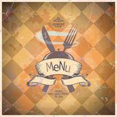 Retro restaurant menu card design. — Stock Vector