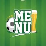 Sports Bar Menu card template. — Stock Vector #17441805