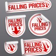 Falling Prices stickers. — Stock Vector #17441699