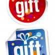 Vector de stock : Gift stickers