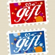 Stock Vector: Gift stamps.